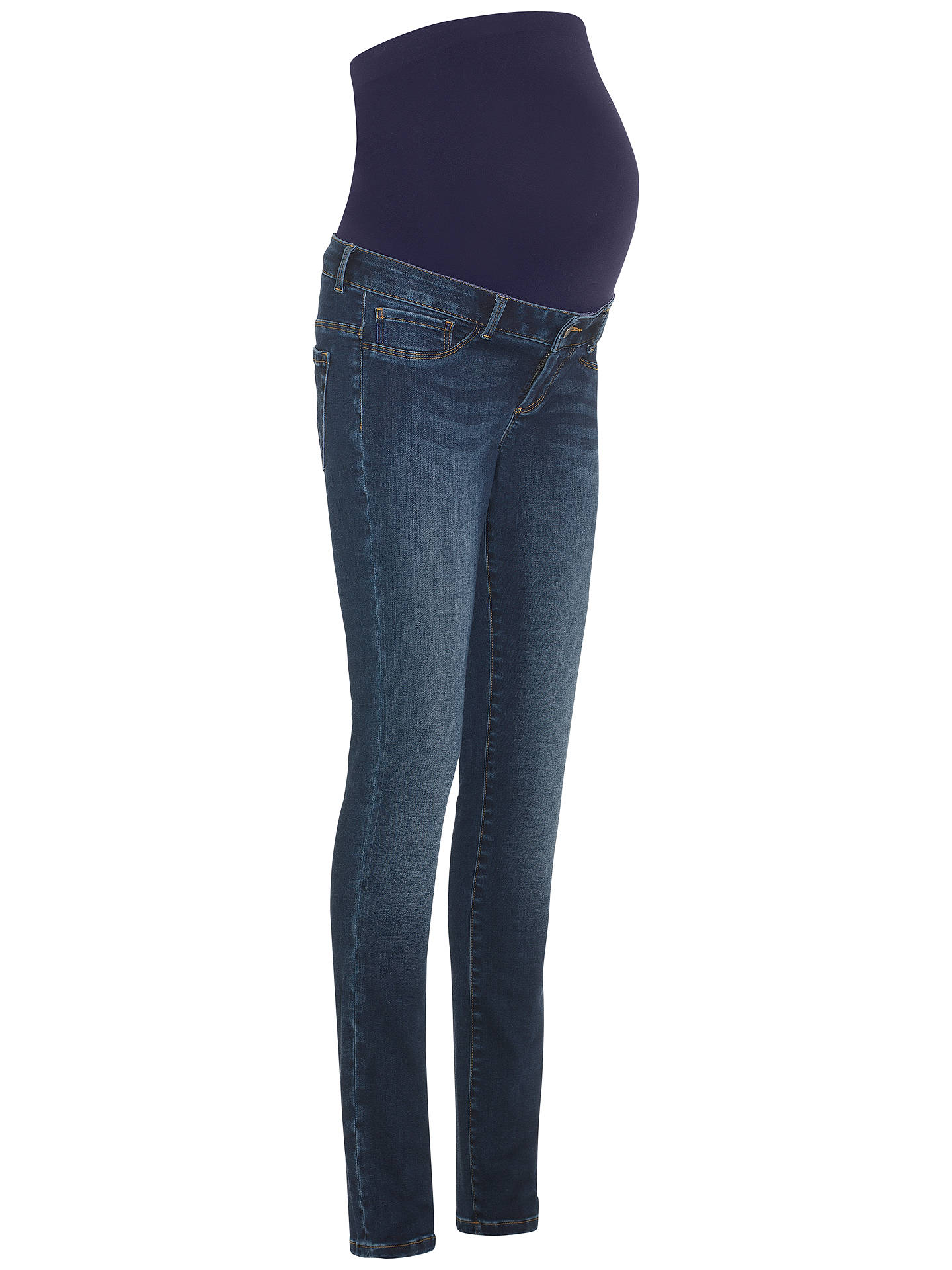 6dcc6cf589c63 Buy Seraphine Penny Overbump Maternity Skinny Jeans, Blue Denim, 8 Online  at johnlewis.