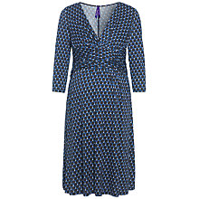 Buy Séraphine Kelly Bubbles Maternity Dress, Blue/Black Online at johnlewis.com