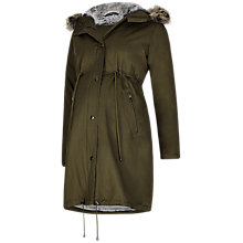 Buy Séraphine Penelope Maternity Parka Coat, Khaki Online at johnlewis.com