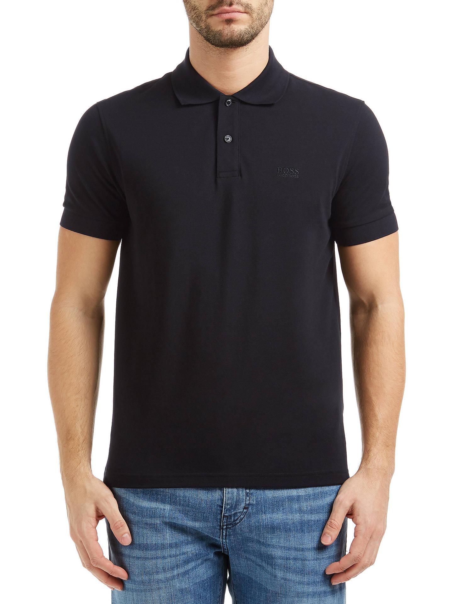 38e97388 Buy BOSS Green C-Firenze Polo Shirt, Black, S Online at johnlewis.