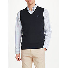 Buy Gant Light Weight Cotton Sleeveless Jumper, Navy Online at johnlewis.com