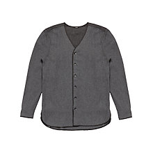 Buy Denham Flight Knitted Shirt, Grey Marl Online at johnlewis.com