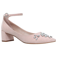 Buy Carvela Grand Embellished Court Shoes, Nude Online at johnlewis.com