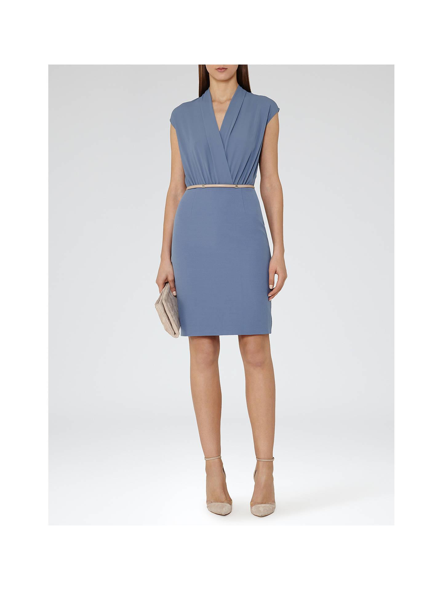 Reiss Warrick Wrap Top Dress Cornflower Blue At John
