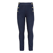 Buy John Lewis Girls' Military Jeans, Indigo Online at johnlewis.com