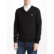 Buy Fred Perry Classic Tipped V-Neck Jumper Online at johnlewis.com