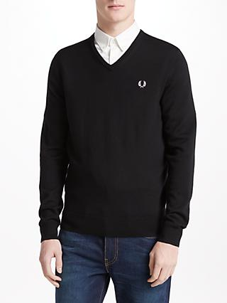 Fred Perry Classic Tipped V-Neck Jumper