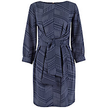 Buy Closet Line Print Tie Back Dress, Navy Online at johnlewis.com