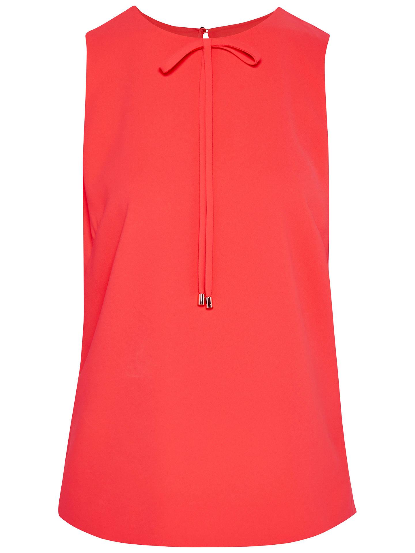 125946b9b1ca Buy Ted Baker Olia Crepe Bow Top, Orange, 0 Online at johnlewis.com ...