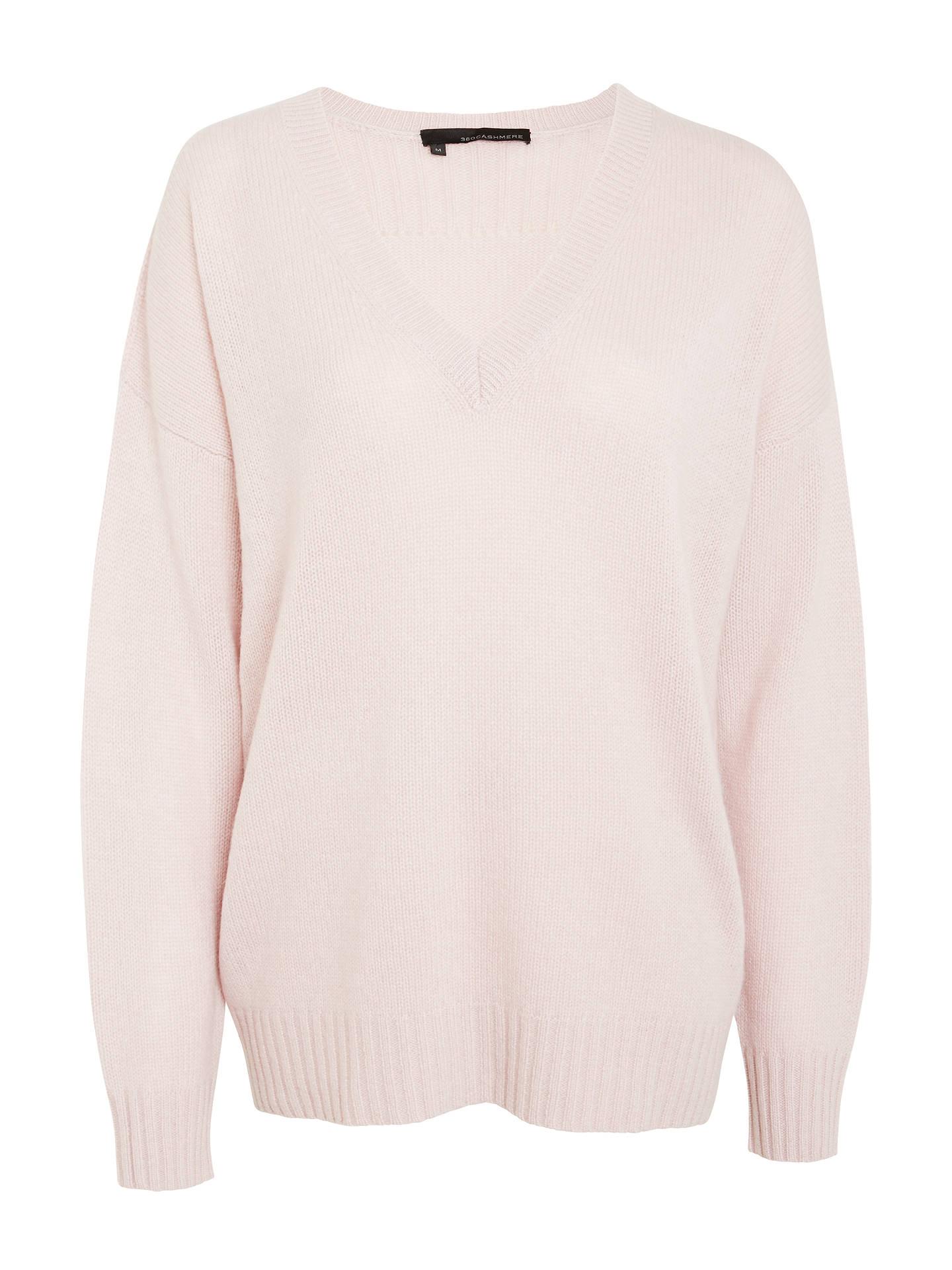 360 Sweater Sydney Cashmere Jumper, Rose at John Lewis