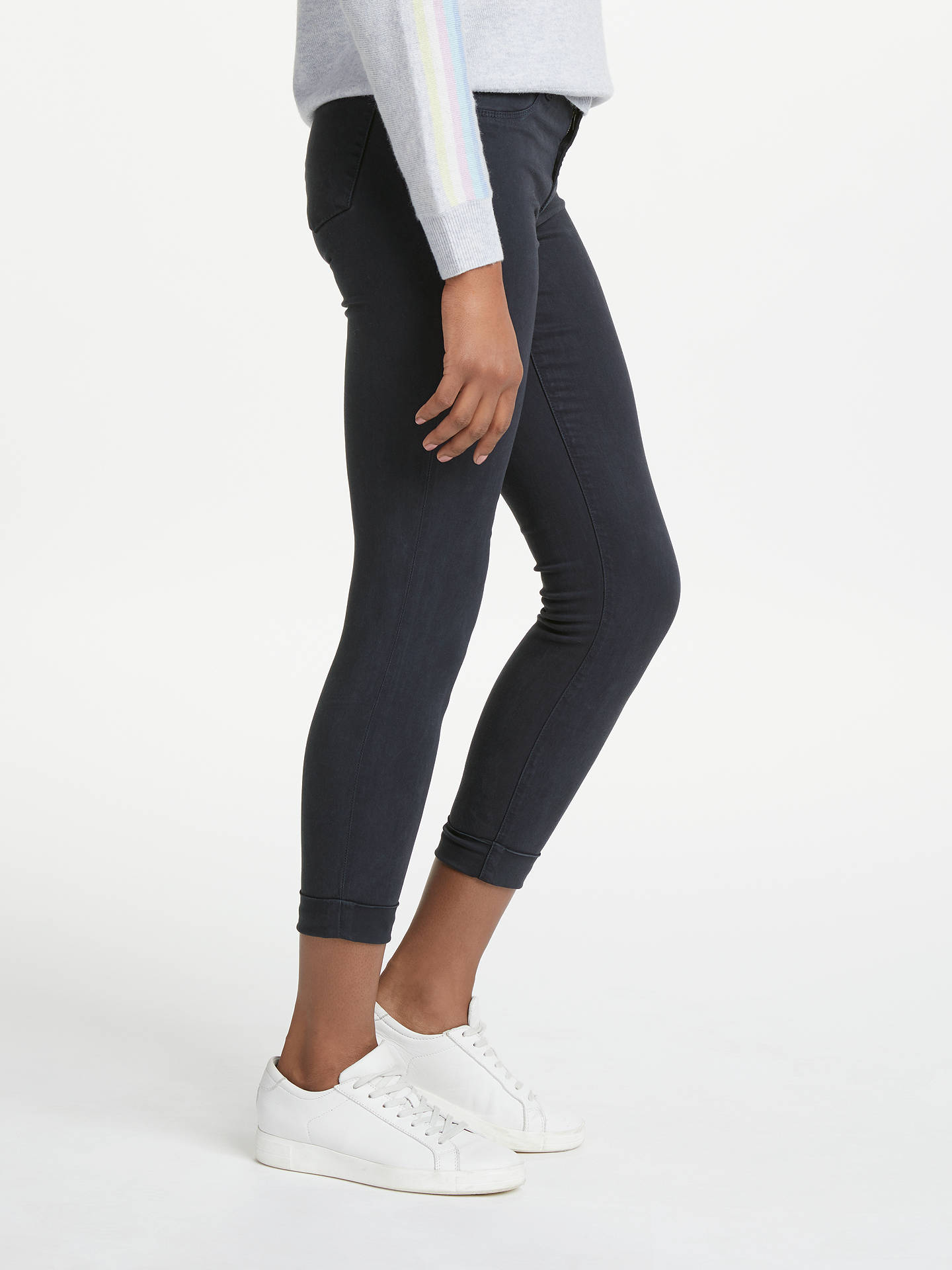 BuyJ Brand Anja Mid Rise Cropped Skinny Jeans, Dark Navy, 24 Online at johnlewis.com