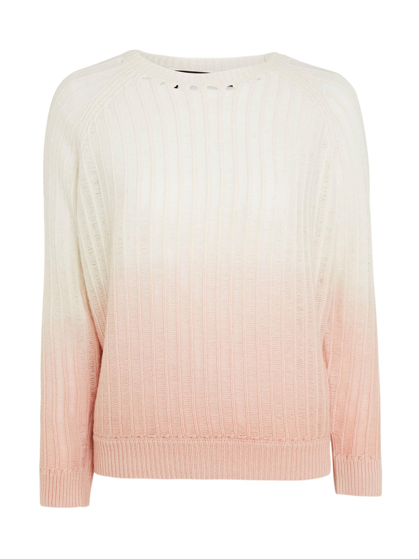 360 Sweater Demi Dip Dye Cashmere Jumper, ChalkRose at John