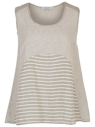 Chesca Mixed Stripe Linen Cami