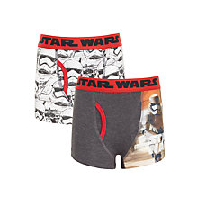 Buy Universal Boys' Star Wars Trunks, Pack of 2, Grey Online at johnlewis.com