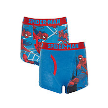 Buy Spider-Man Boys' Trunks, Pack of 2, Blue Online at johnlewis.com