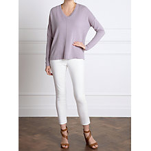 Buy Pure Collection Jaden Cashmere V Neck Jumper, Dusty Orchid Online at johnlewis.com