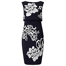 Buy Phase Eight Moira Sequin Flower Dress, Navy/Ivory Online at johnlewis.com