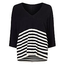 Buy Phase Eight Jaiden Stripe Jumper, Black Online at johnlewis.com