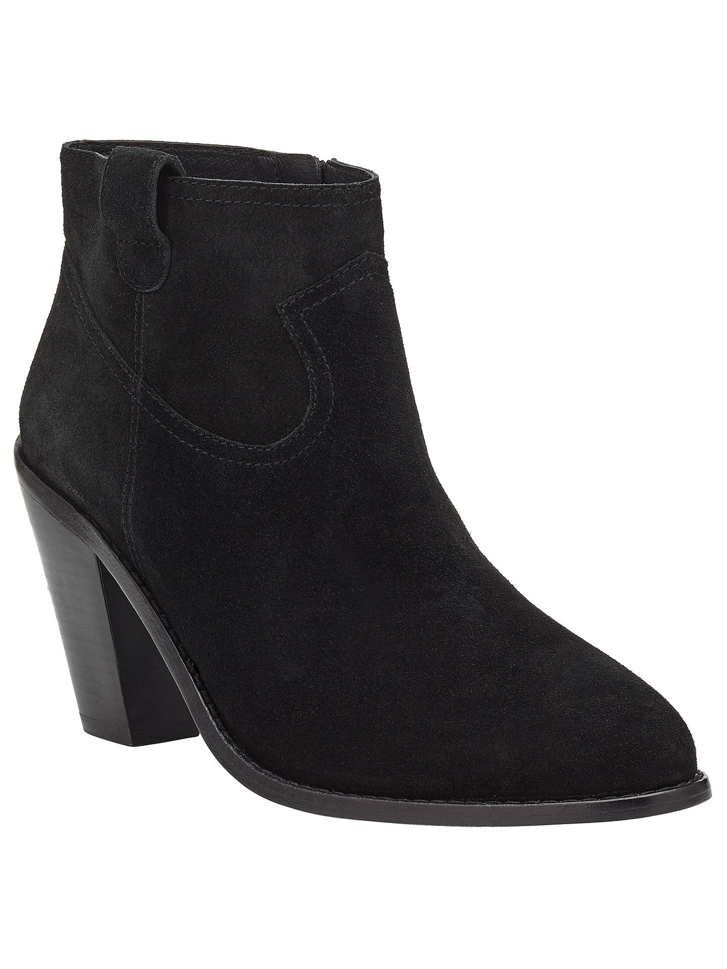 c85aec9b6ee Ash Ivana Heeled Ankle Boots, Black at John Lewis & Partners