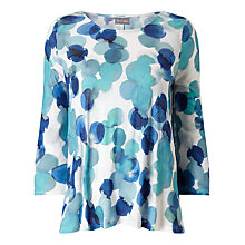Buy Phase Eight Watercolour Spot Top, Blue/White Online at johnlewis.com