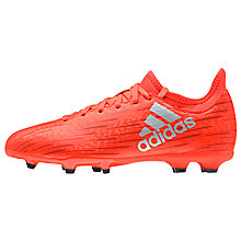 Buy Adidas Children's Solar X 16.3 FG Football Boots, Red/Silver Online at johnlewis.com