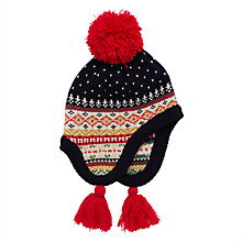 Buy John Lewis Children's Fair Isle Hat, Navy Online at johnlewis.com