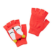 Buy John Lewis Children's Fox Mittens, Orange Online at johnlewis.com