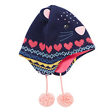 Buy John Lewis Children's Novelty Cat Hat, Navy Online at johnlewis.com