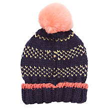 Buy John Lewis Children's Pintuck Glitter Bobble Hat Online at johnlewis.com