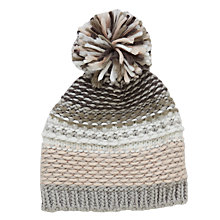 Buy John Lewis Children's Reverse Loops Beanie Hat, Grey Online at johnlewis.com