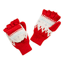 Buy John Lewis Children's Fair Isle Mittens, Red Online at johnlewis.com