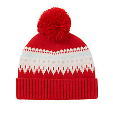 Buy John Lewis Children's Fair Isle Hat, Red Online at johnlewis.com