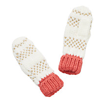Buy John Lewis Children's Pintuck Glitter Mittens Online at johnlewis.com