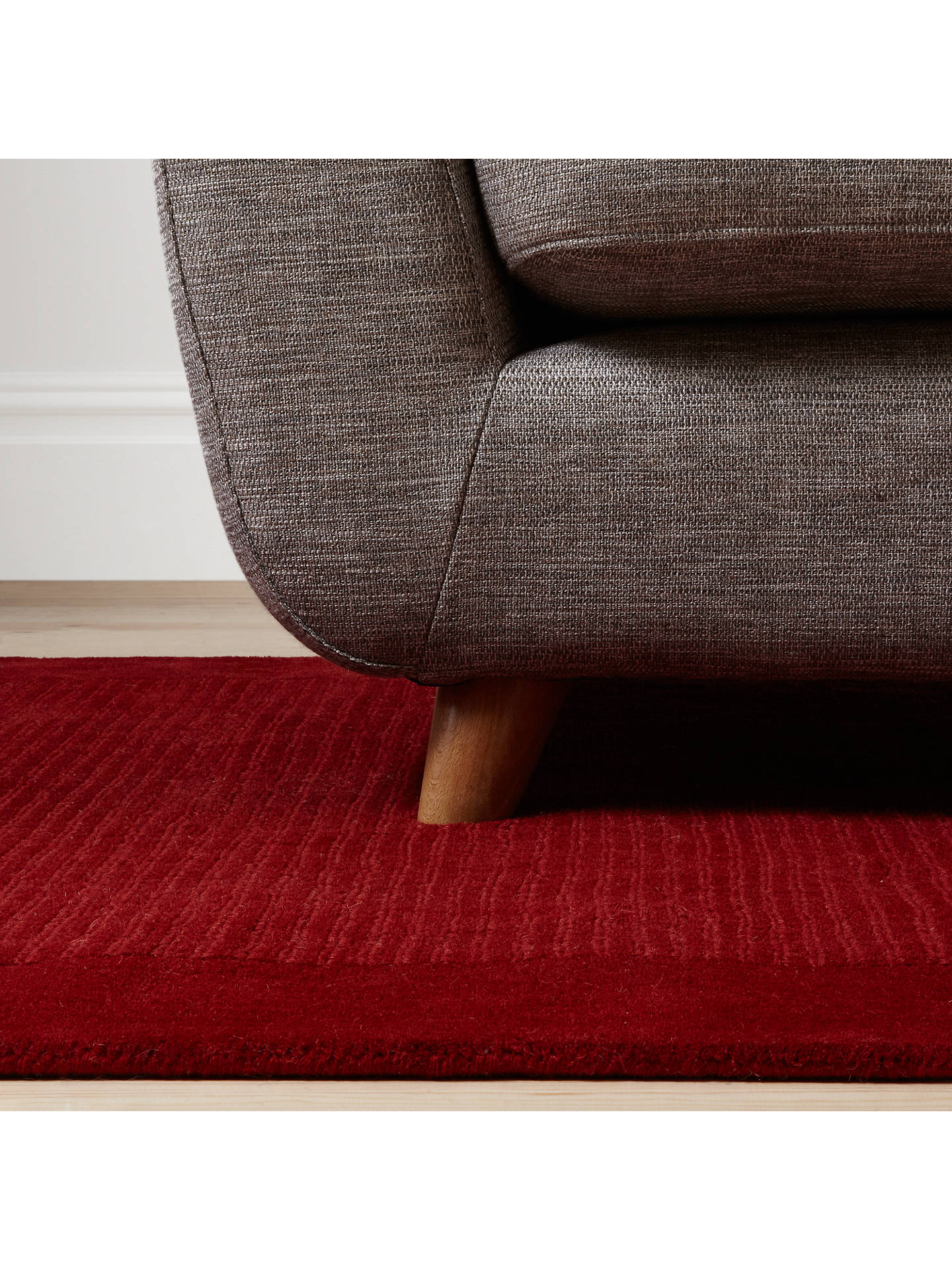 John Lewis Partners Perth Rug Red L300 X W200cm Online At Johnlewis