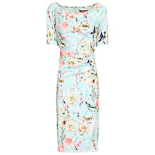 Buy Jolie Moi Floral Half Sleeve Shift Dress, Aqua Online at johnlewis.com