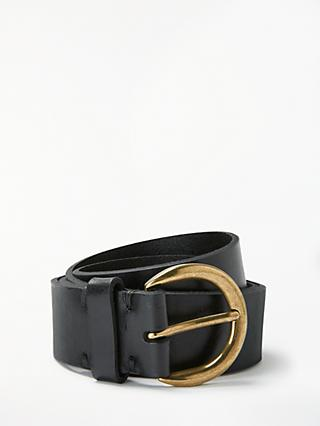 John Lewis & Partners Julia Leather Jeans Belt