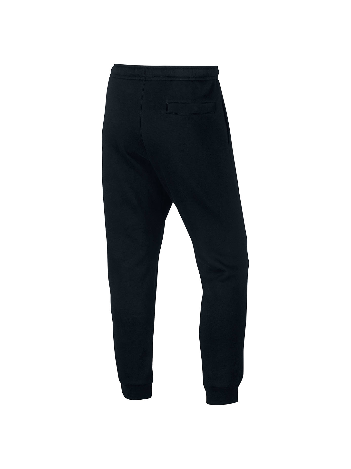 Buy Nike Tracksuit Bottoms, Black/White, M Online at johnlewis.com