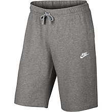Buy Nike AW77 French Terry Training Shorts, Dark Grey/Heather Online at johnlewis.com