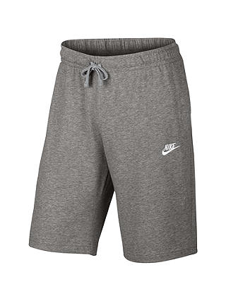 Buy Nike AW77 French Terry Training Shorts, Dark Grey/Heather, S Online at johnlewis.com