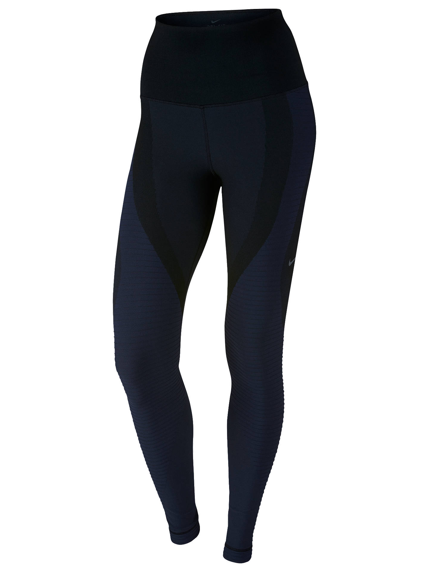 d7c49cf3e9 Buy Nike Zoned Sculpt Training Tights, Black/Obsidian, XS Online at  johnlewis.