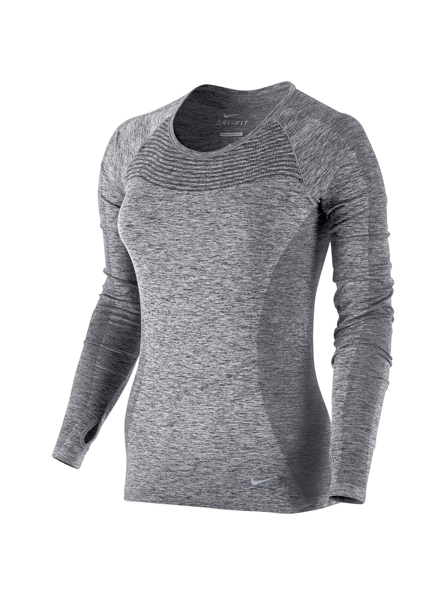 187f3d19e4a6 Nike Dri-FIT Knit Long Sleeve Running Top at John Lewis   Partners