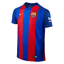 Buy Nike 2016/17 FC Barcelona Home Kids' Football Shirt, Blue/Red Online at johnlewis.com