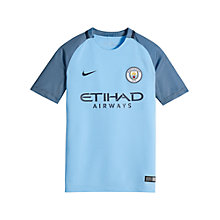 Buy Nike Boys' 2016/17 Manchester City Home Football Shirt, Blue Online at johnlewis.com