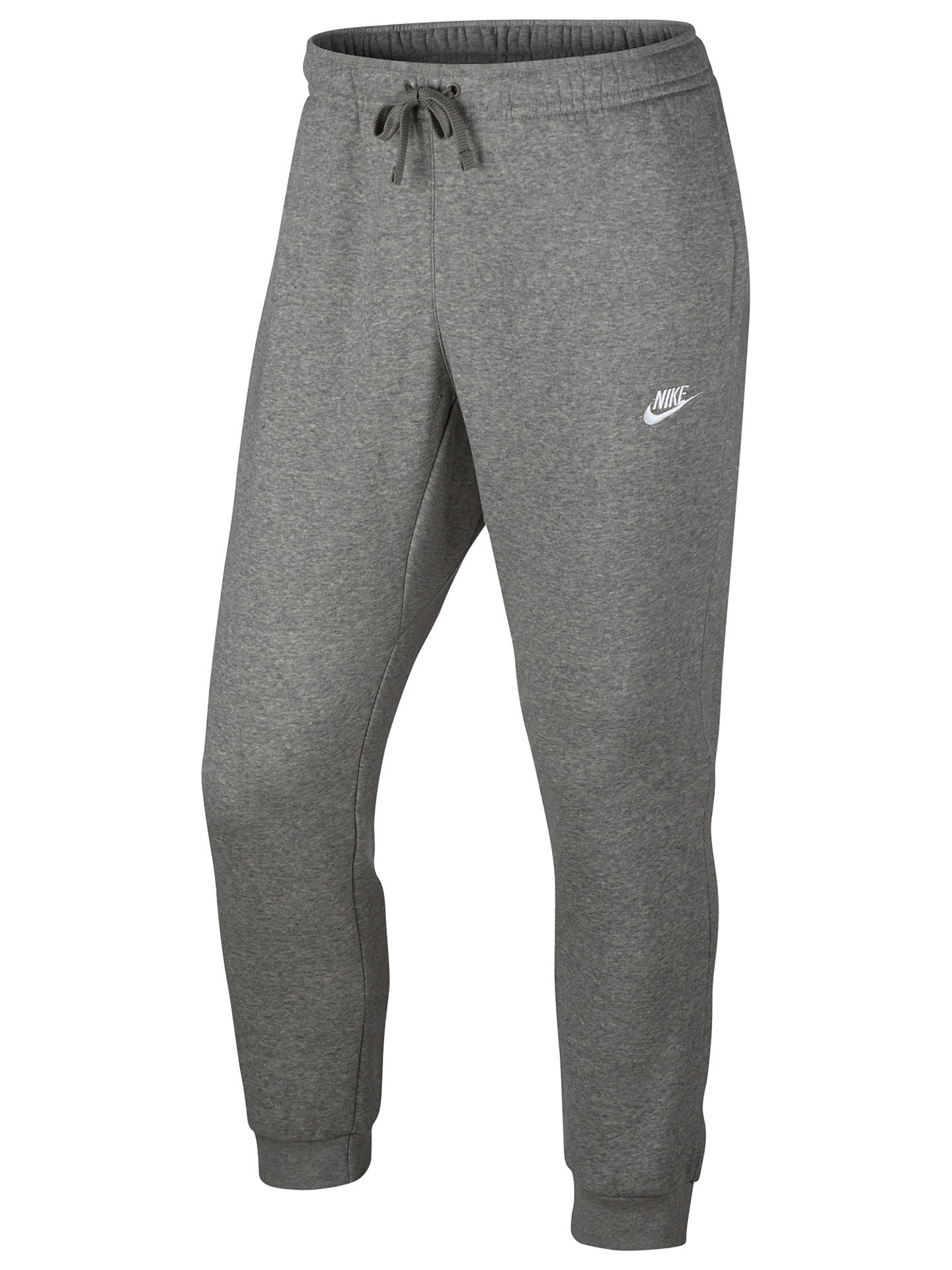 b67ff337487f30 View All Men's Trousers. Previous Image Next Image. Buy Nike Tracksuit  Bottoms, Dark Grey Heather/White, S Online at johnlewis.