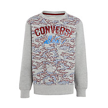 Buy Converse Boys' All Star Geo Map Long Sleeve Top, Grey/Multi Online at johnlewis.com