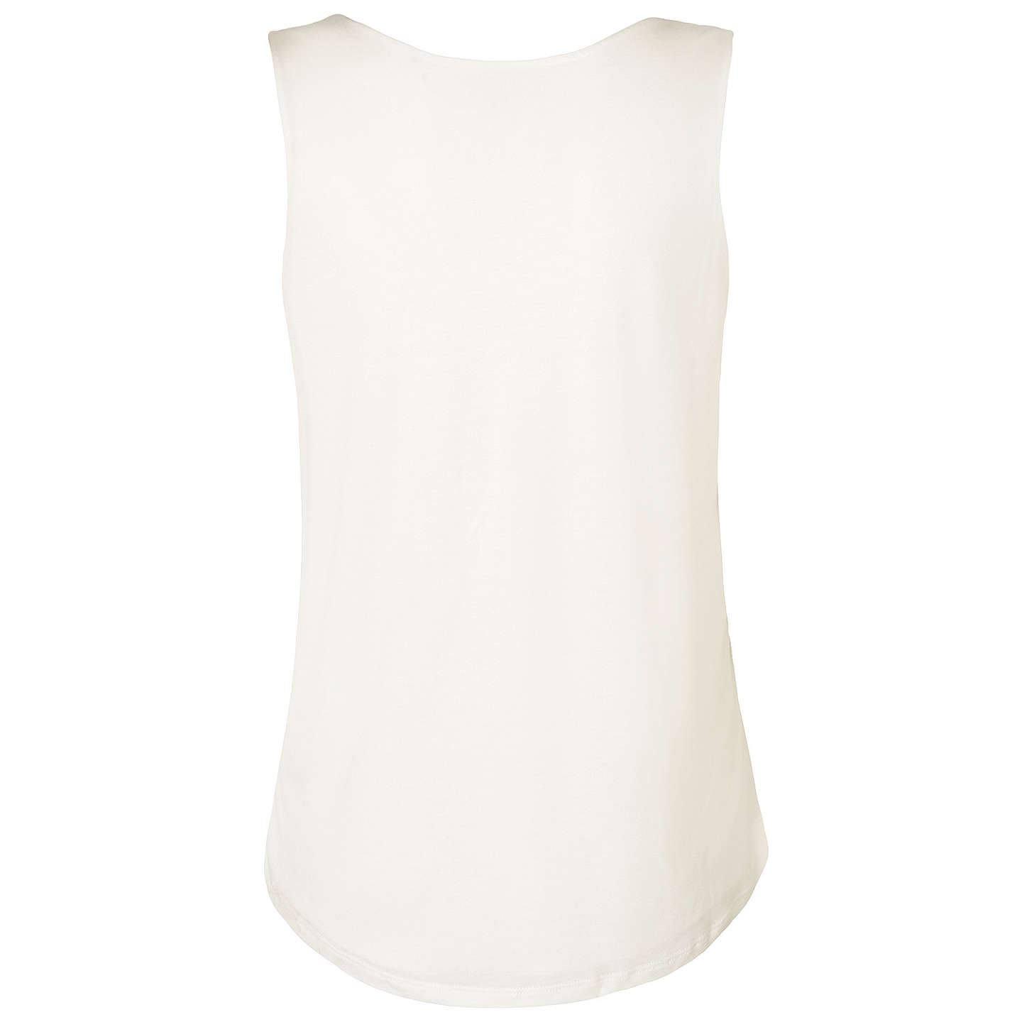 BuyL.K. Bennett Ginny Double Layer Top, Cream, XS Online at johnlewis.com