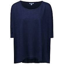 Buy Pure Collection Jacqueline Luxury Linen Poncho, Navy Online at johnlewis.com