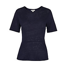 Buy Whistles Linen Peplum T-shirt Online at johnlewis.com