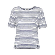 Buy Whistles Stripe Alice T-shirt, Blue Online at johnlewis.com