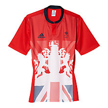 Buy Adidas Team GB Men's Rugby Shirt, Red Online at johnlewis.com